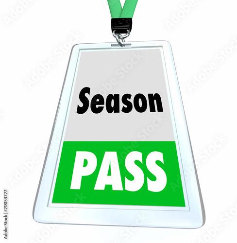 Fotografie, Obraz  Season Pass Full Admission Ticket Badge 3d Illustration