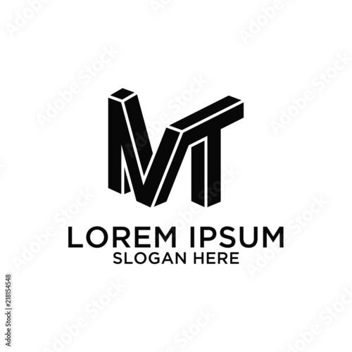 Fotografie, Obraz MT logo design