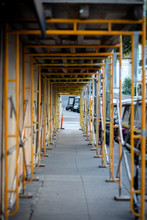 Yellow Scaffolding Underpass