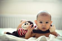 Caucasian Girl Boy Infant Newb...