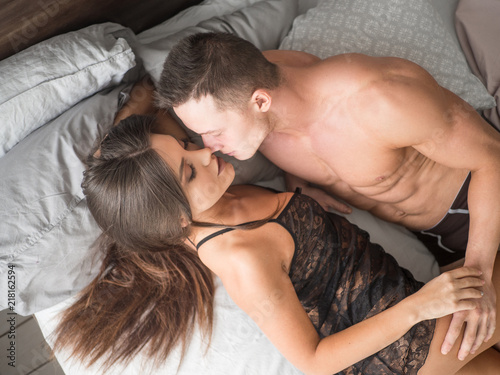 passion couple having sex. Close up view