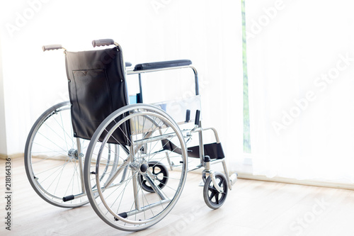 Image of: Chairs Wheelchair Is Parking At Hospital Room Or House Near Curtain And Window In The Evening With Copy Space Wheelchair Suit For Old People Disabled Patient Wantitall Wheelchair Is Parking At Hospital Room Or House Near Curtain And