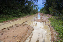 Landscape Muddy Road Landscape...