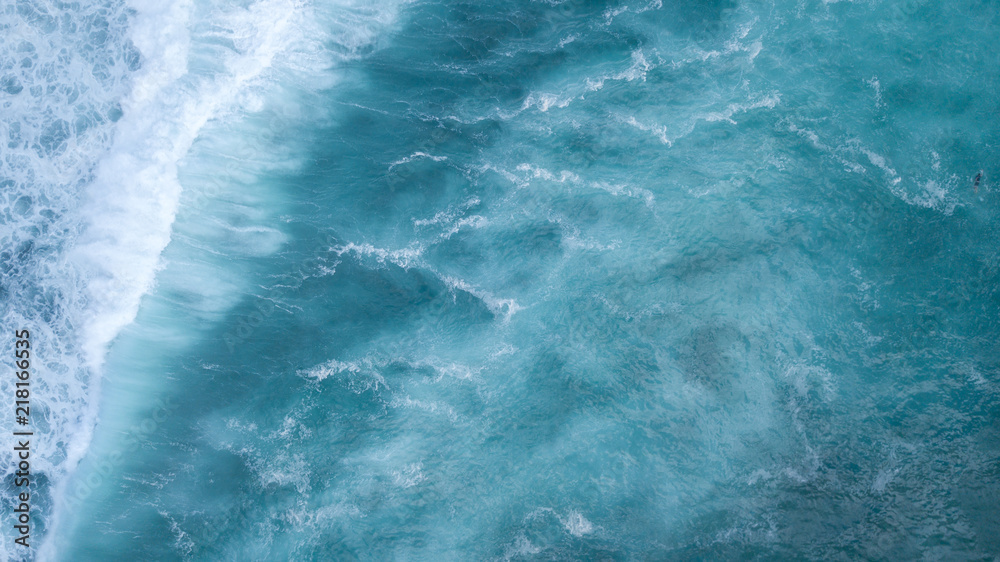 Fototapety, obrazy: Aerial: ocean surface waves view