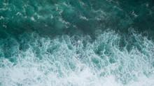 Aerial: Ocean Surface Waves View
