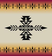 Native Southwest American, Indian, Aztec, Geometric Seamless Pattern.