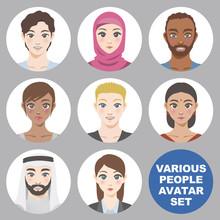 様々な人種の人々 アイコンセット