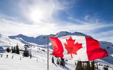 Canadian Flag Flying Near The ...