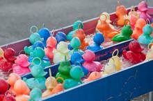 Closeup Of Plastic Rubber Duck...