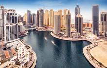 Aerial Daytime Skyline Of Duba...
