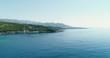 Coastline ocean mountains rocks blue sea