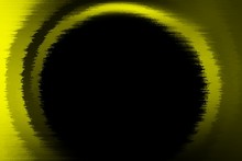 Round Gate Abstract Yellow Frame Design Black Background