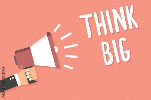 Fotografie, Obraz  Text sign showing Think Big