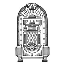 Jukebox Engraving Vector Illus...