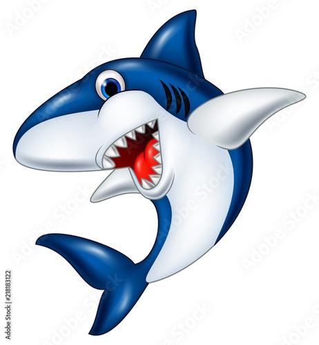 Photographie Cartoon smiling shark