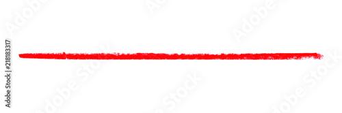 Lange rote gemalte Linie