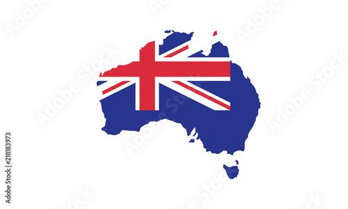 Australia Map Shape.Australia Map Outline Country Shape State Borders Oceania Buy This