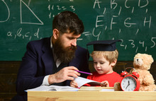 Kid Studies Individually With ...