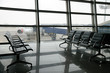 Airport terminal departure area inside