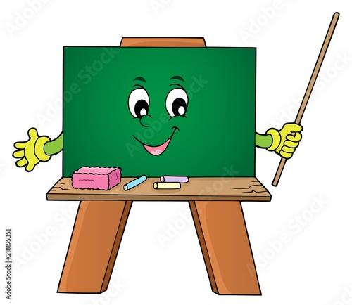 Poster Voor kinderen Happy schoolboard theme image 1