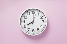 Wall Clock At Abstract Backgro...