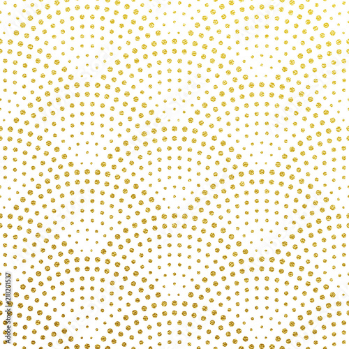 Photo  Seamless pattern vector background of glittery golden scales or fountain confett