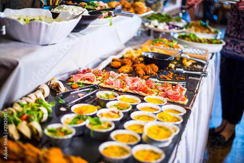 Cadres-photo bureau Buffet, Bar Breakfast Buffet Concept, Breakfast Time in Luxury Hotel, Brunch with Family in Restaurant