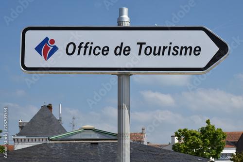 Photo  Panneau office de tourisme à Noirmoutier, Vendée, Pays de la Loire, France