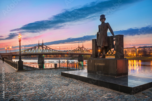 Fotografie, Obraz Памятник Пушкину в Твери  Monument to poet Pushkin in Tver