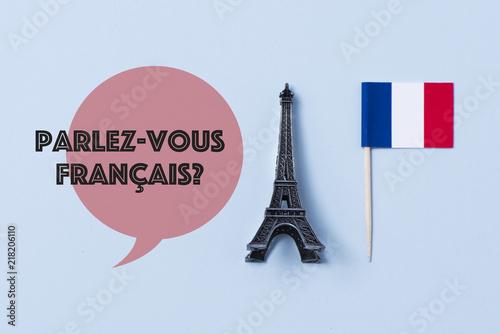 Obraz question do you speak French? in French - fototapety do salonu