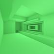 Leinwanddruck Bild - Futuristic Architecture Design
