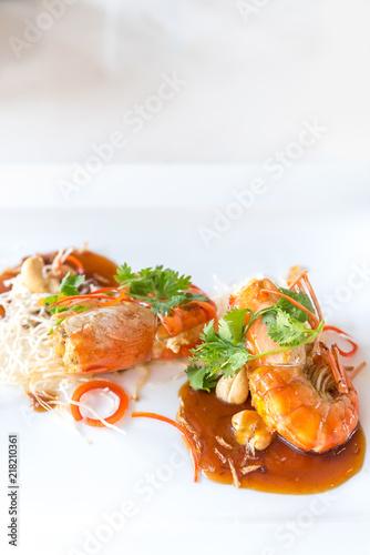 Prawn with tamarind sauce