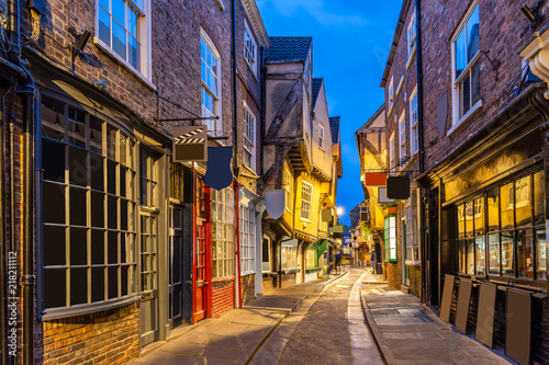 Deurstickers Europa York shambles sunset