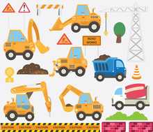 Cute Construction Transportati...