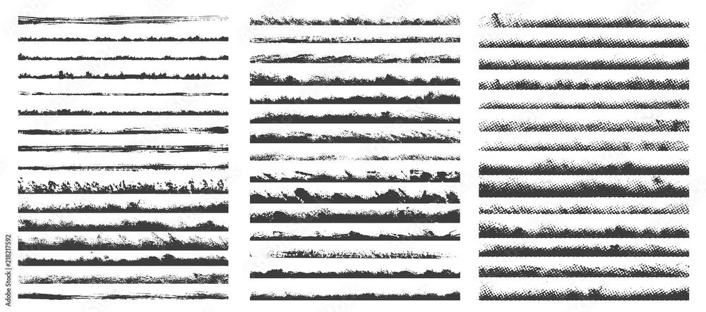 Fototapety, obrazy: Set of brushes