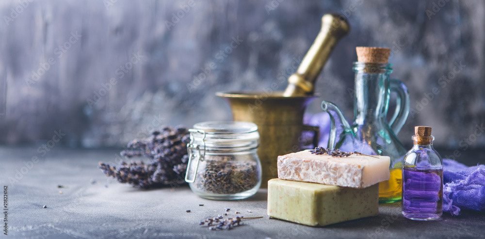 Fototapety, obrazy: Lavender spa products