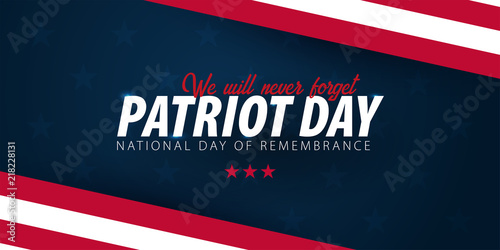 Obraz na płótnie Patriot day promotion, advertising, poster, banner, template with American flag