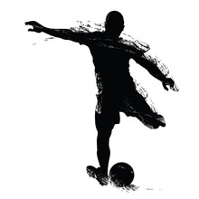 Vector Soccer Player Silhouette.