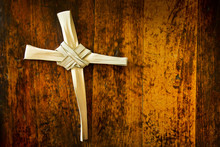 Good Friday Cross Made From Ea...