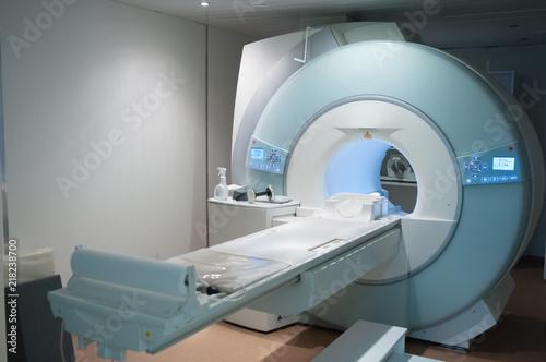 Fotografía  MRI Machine. Medical equipment in a hospital.