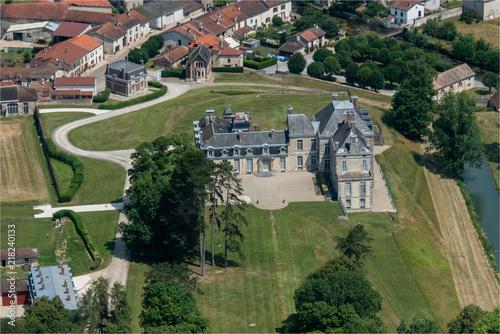 Fotografia  vue aérienne de Corey-Sur-Blaise dans la Marne en france