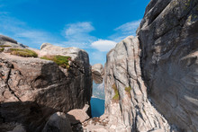 Landscape Travel On The Way To  The Stone Of The Kjerag In The Mountains Kjeragbolten Of Norway Nature, Mountains , The Feeling Of Complete Freedom