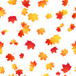 Maple seamless pattern. Autumn vector background