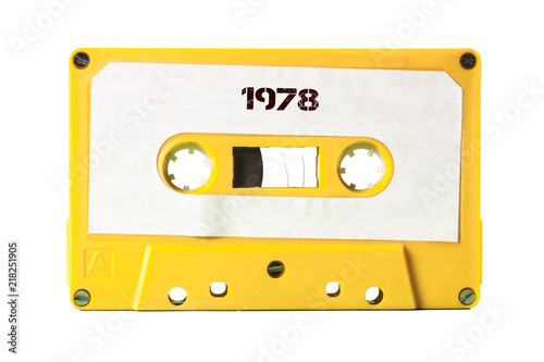 Foto A vintage cassette tape from the 1980s era (obsolete music technology) with the text 1978 printed over it (my addition, not in the original image)