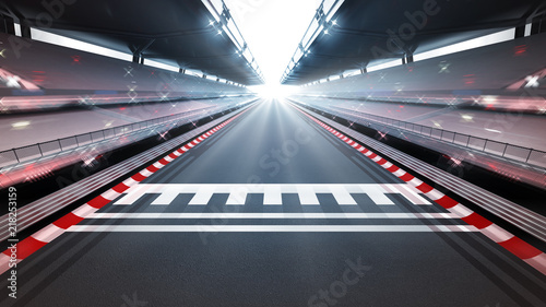 Poster F1 illuminated race track with motion blur