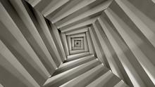 Stair Abstrat Illusion Background. 3D Illustration