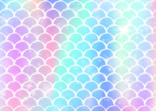 Rainbow Scales Background With...