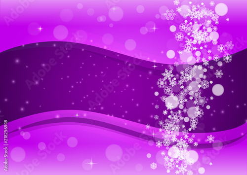 falling snow with ultraviolet snowflakes new year frosty backdrop winter border for flyer