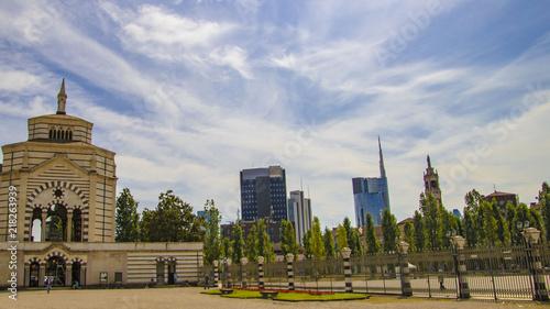 Foto op Plexiglas Milan lo skyline di Milano dal monumentale