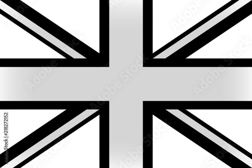 Flag of England in black and white